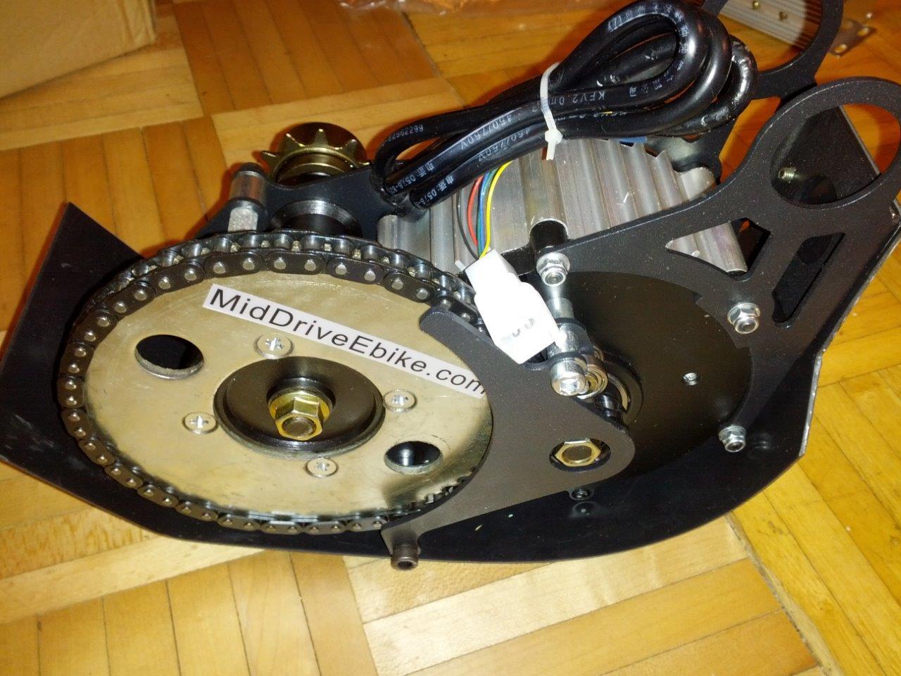 700w 60v Brushless Mid Drive Ebike Conversion Kit